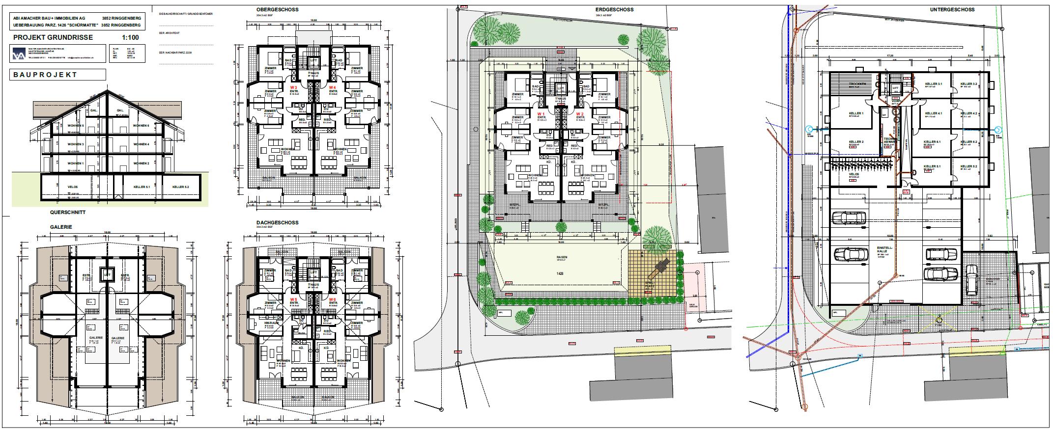 mehrfamilienhaus in ringgenberg amacher architekten. Black Bedroom Furniture Sets. Home Design Ideas
